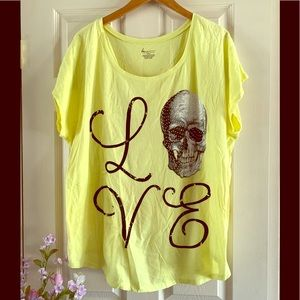 Lane bryant skeleton shirt